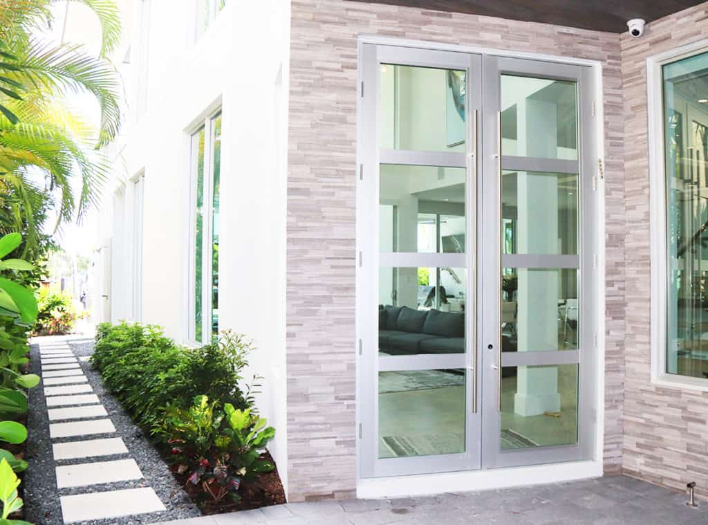 High-end Florida home entrance door